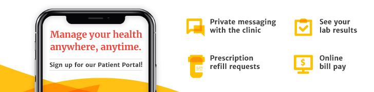 patient portal image on smart phone